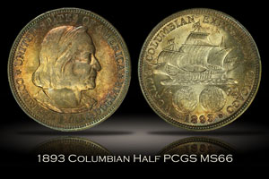 1893 Columbian Commemorative Half Dollar PCGS MS66