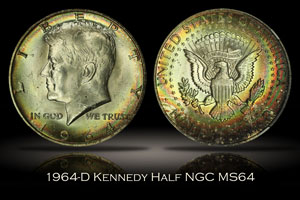 1964-D Kennedy Half NGC MS64