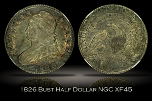 1826 Capped Bust Half Dollar NGC XF45