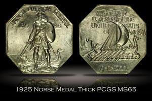 1925 Norse Medal Thick PCGS MS65