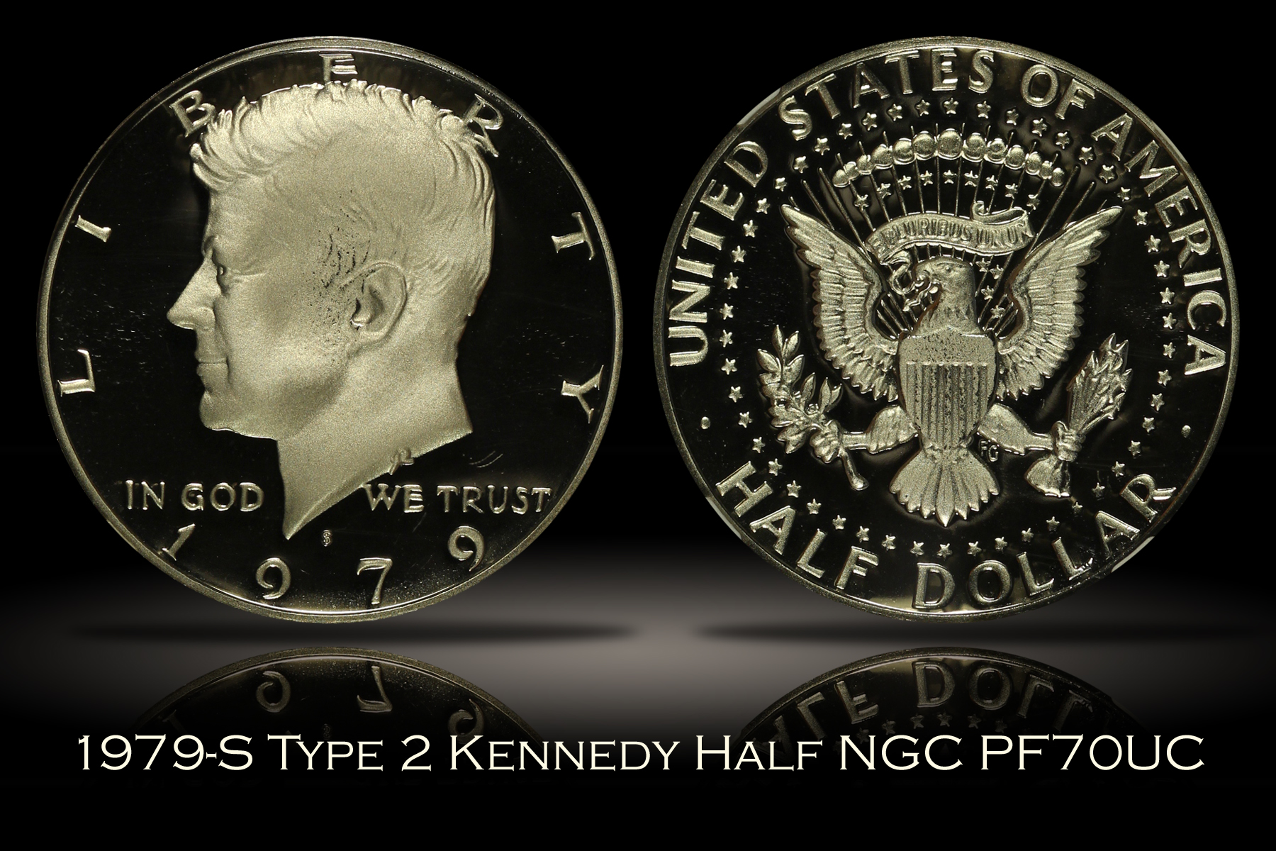 1979-S Type 2 Proof Kennedy Half NGC PF70UC