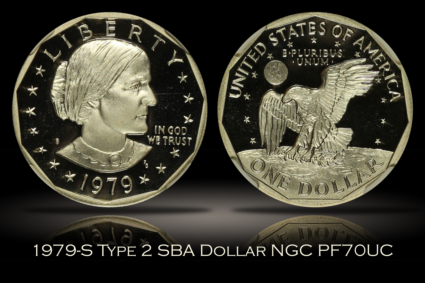 1979-S Type 2 Proof SBA Dollar NGC PF70UC