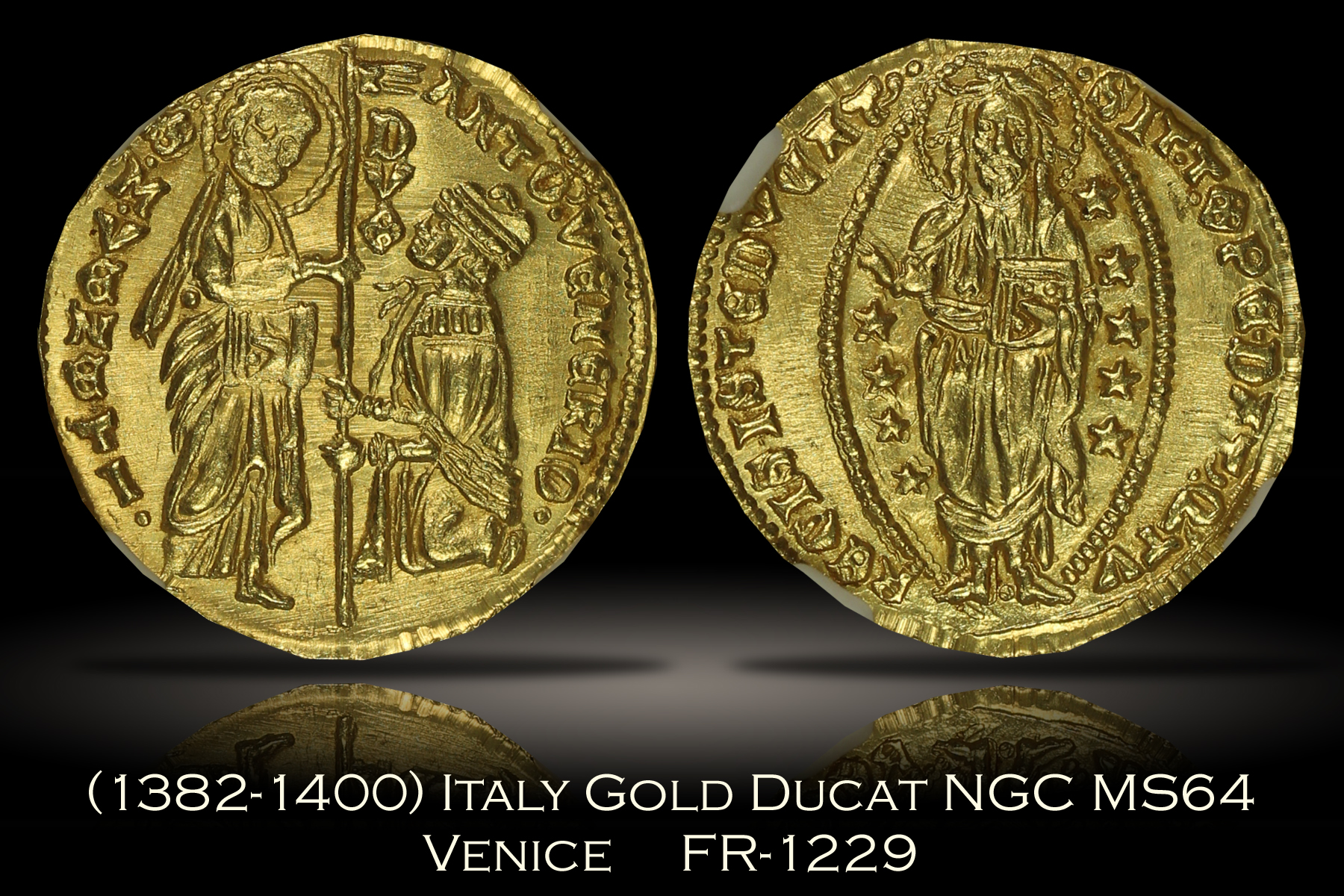 1382-1400 Italy Gold Ducat Venice FR-1229 NGC MS64