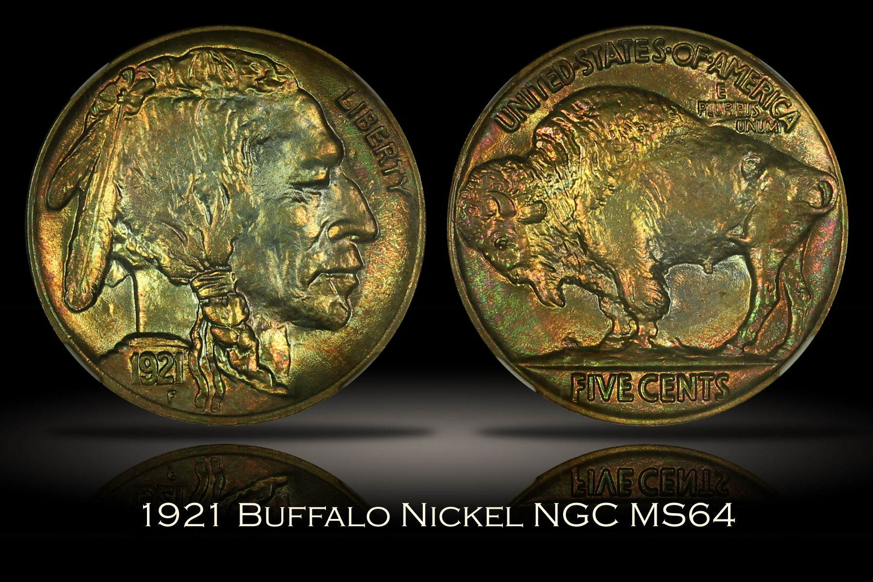 1921 Buffalo Nickel NGC MS64