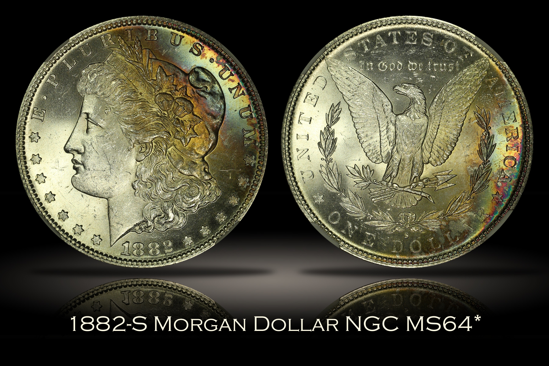1882-S Morgan Dollar NGC MS64*