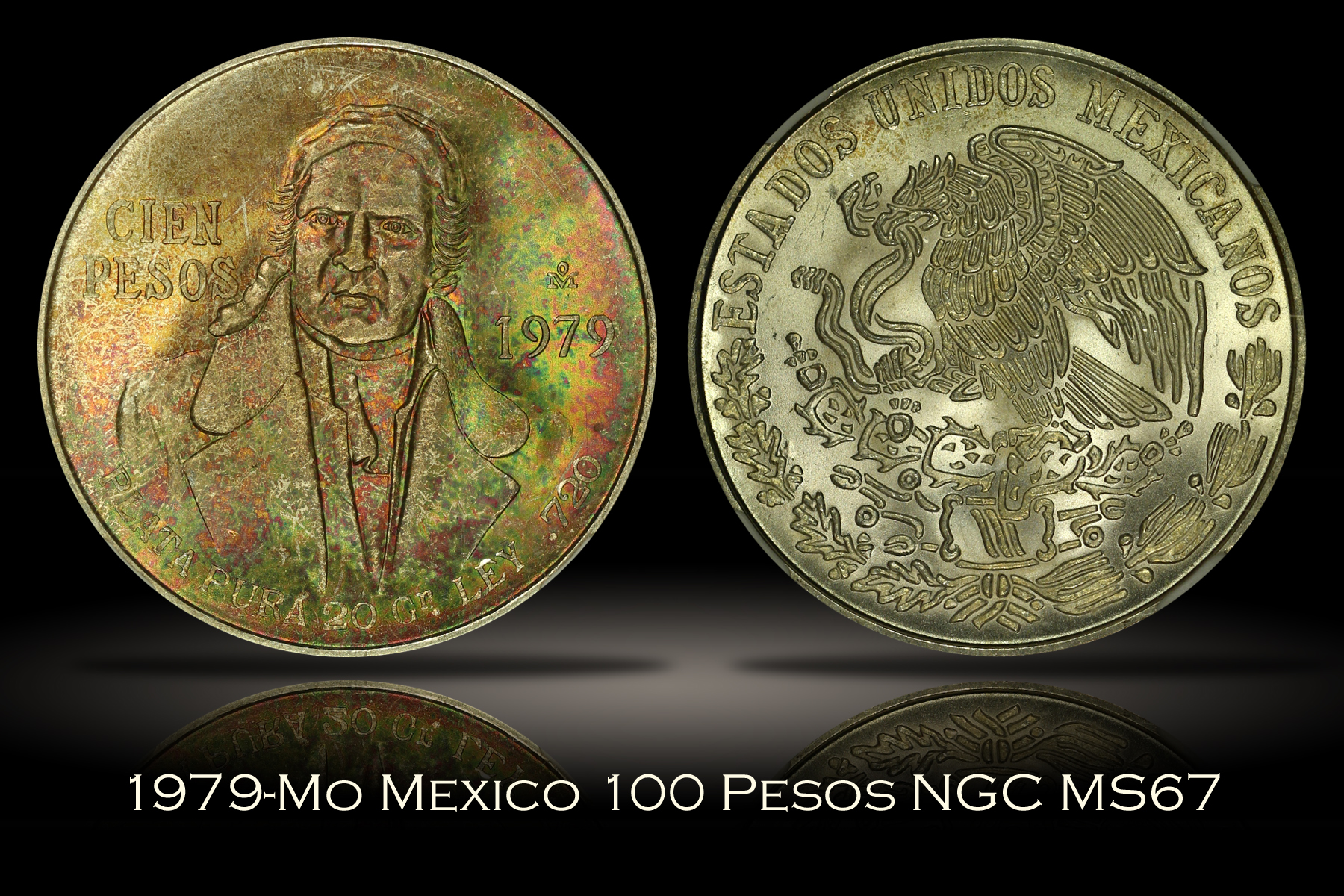 1979-Mo Mexico 100 Pesos NGC MS67