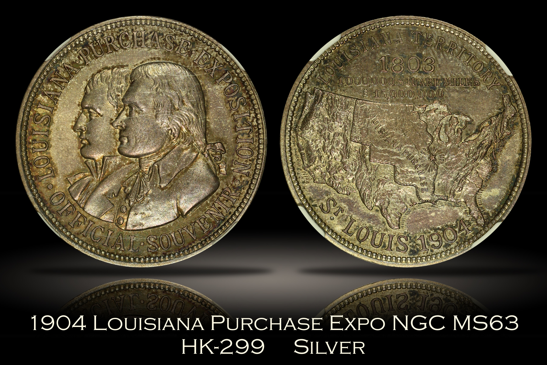 1904 Louisiana Purchase Expo Official Medal HK-299 NGC MS63