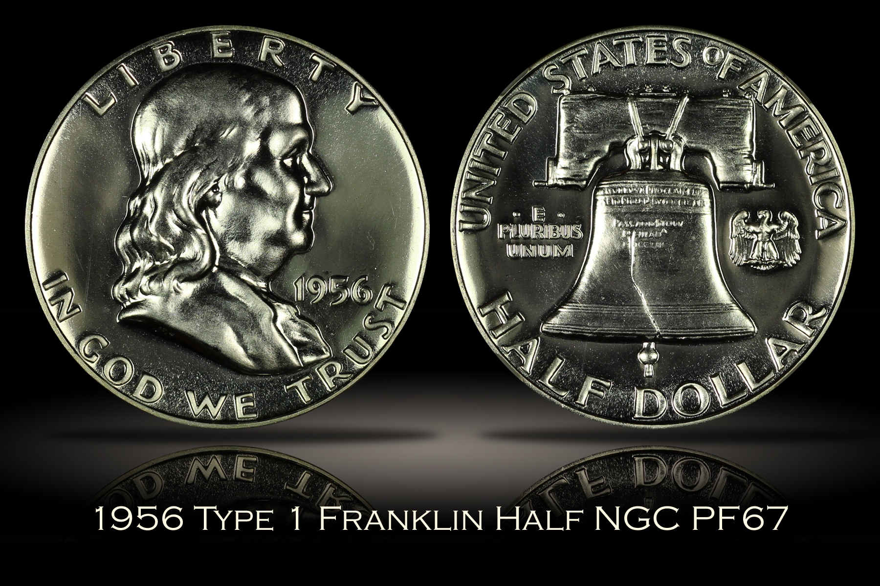 1956 Type 1 Proof Franklin Half NGC PF67