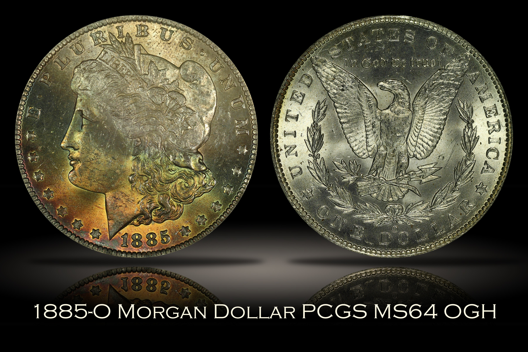1885-O Morgan Dollar PCGS MS64 OGH
