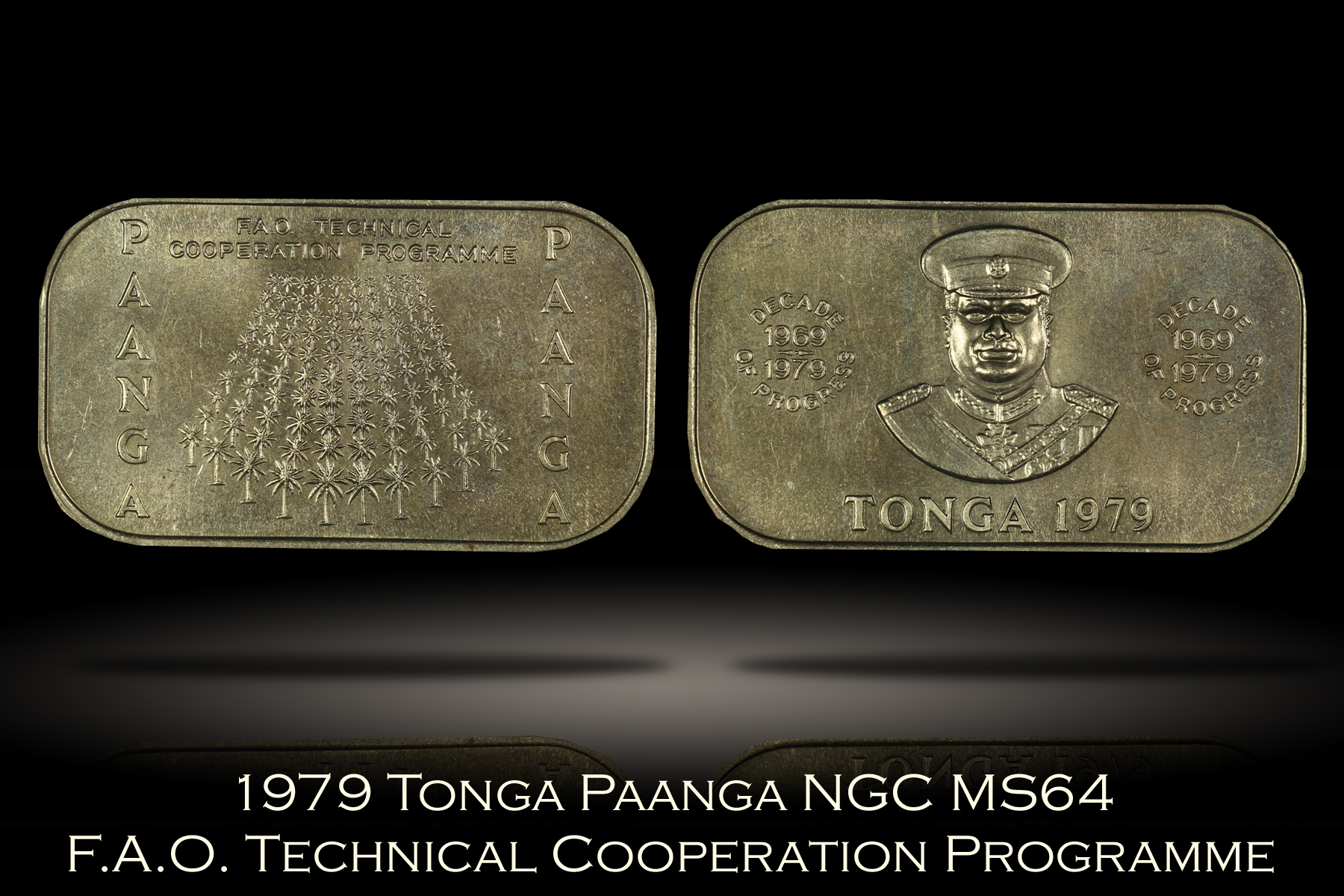 1979 Tonga Paanga Technical Cooperation Program NGC MS64