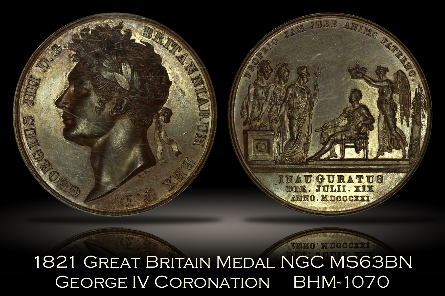 1821 Great Britain George IV Coronation Medal NGC MS63BN