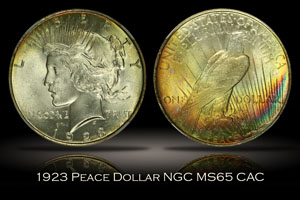 1923 Peace Dollar NGC MS65 CAC