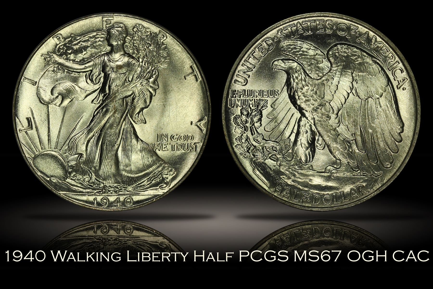 1940 Walking Liberty Half PCGS MS67 OGH CAC