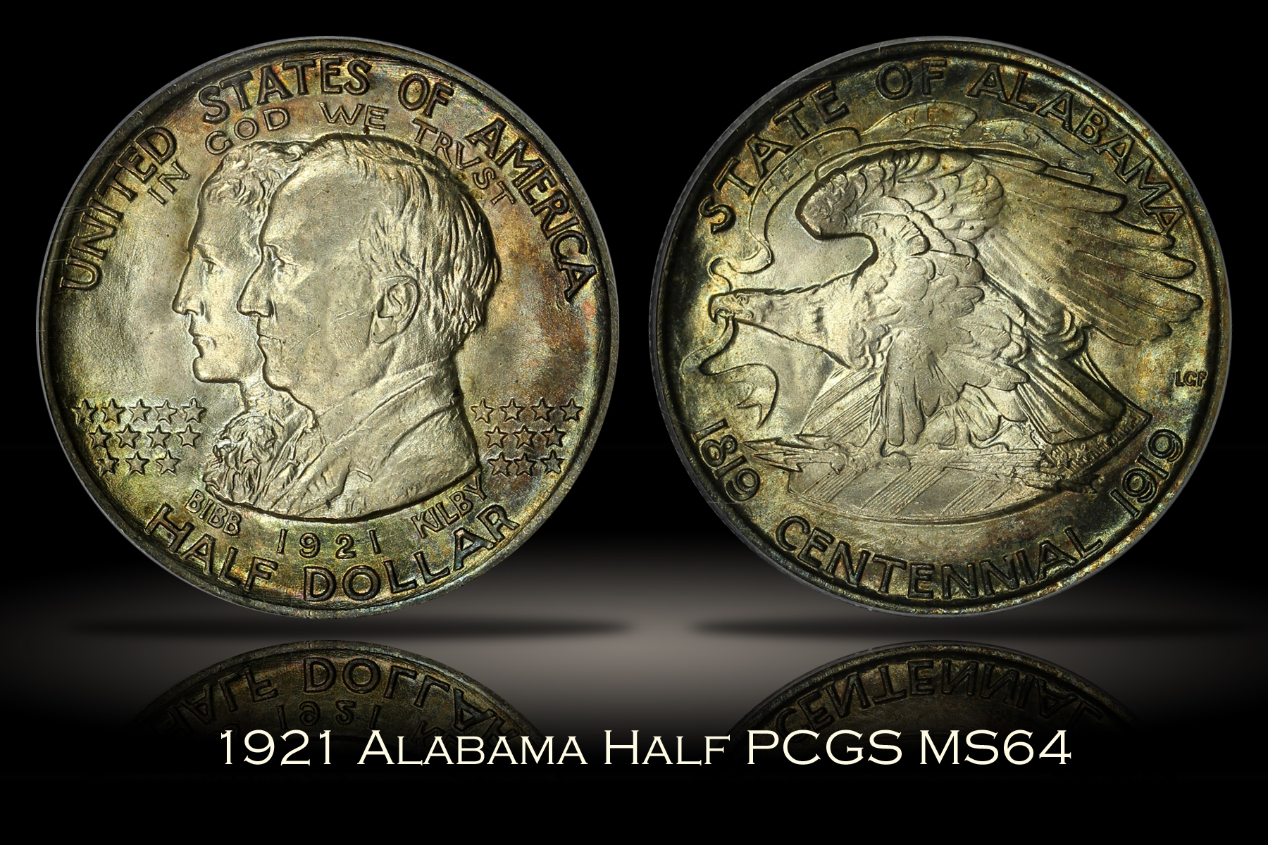 1921 Alabama Half PCGS MS64
