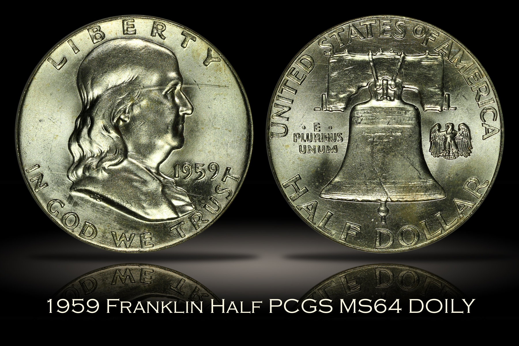 1959 Franklin Half PCGS MS64 DOILY
