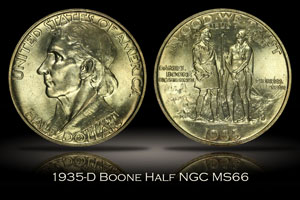 1935-D Boone Half NGC MS66