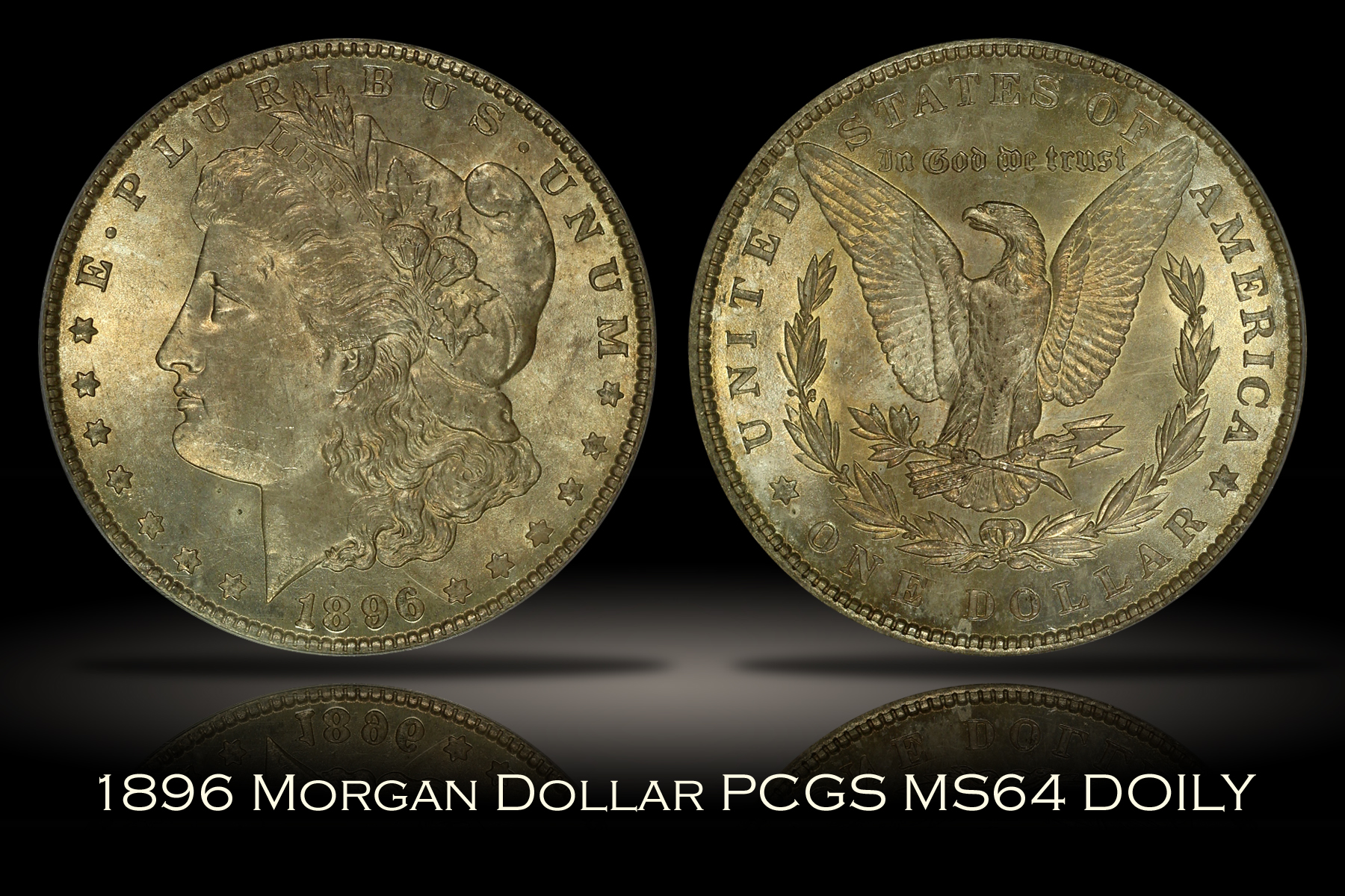 1896 Morgan Dollar PCGS MS64 DOILY