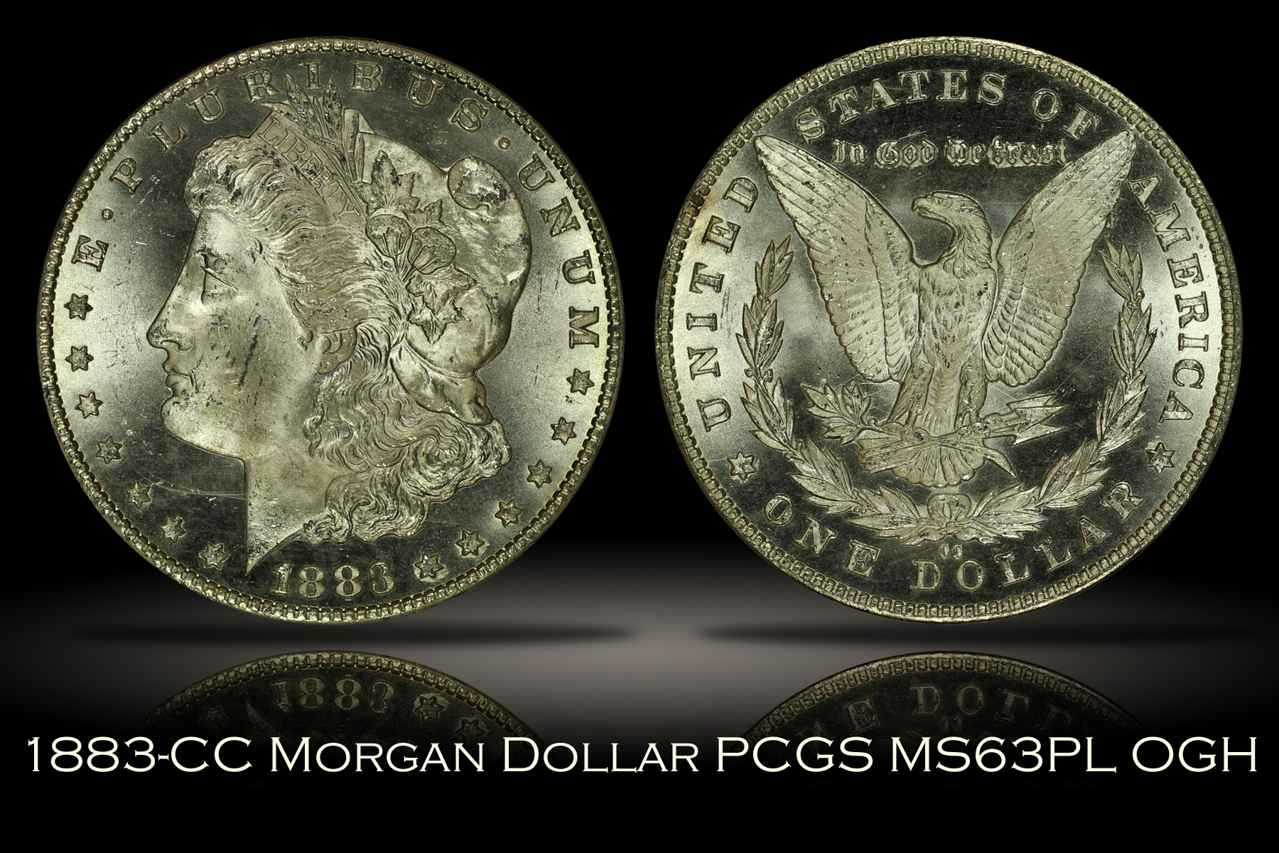 1883-CC Morgan Dollar PCGS MS63PL