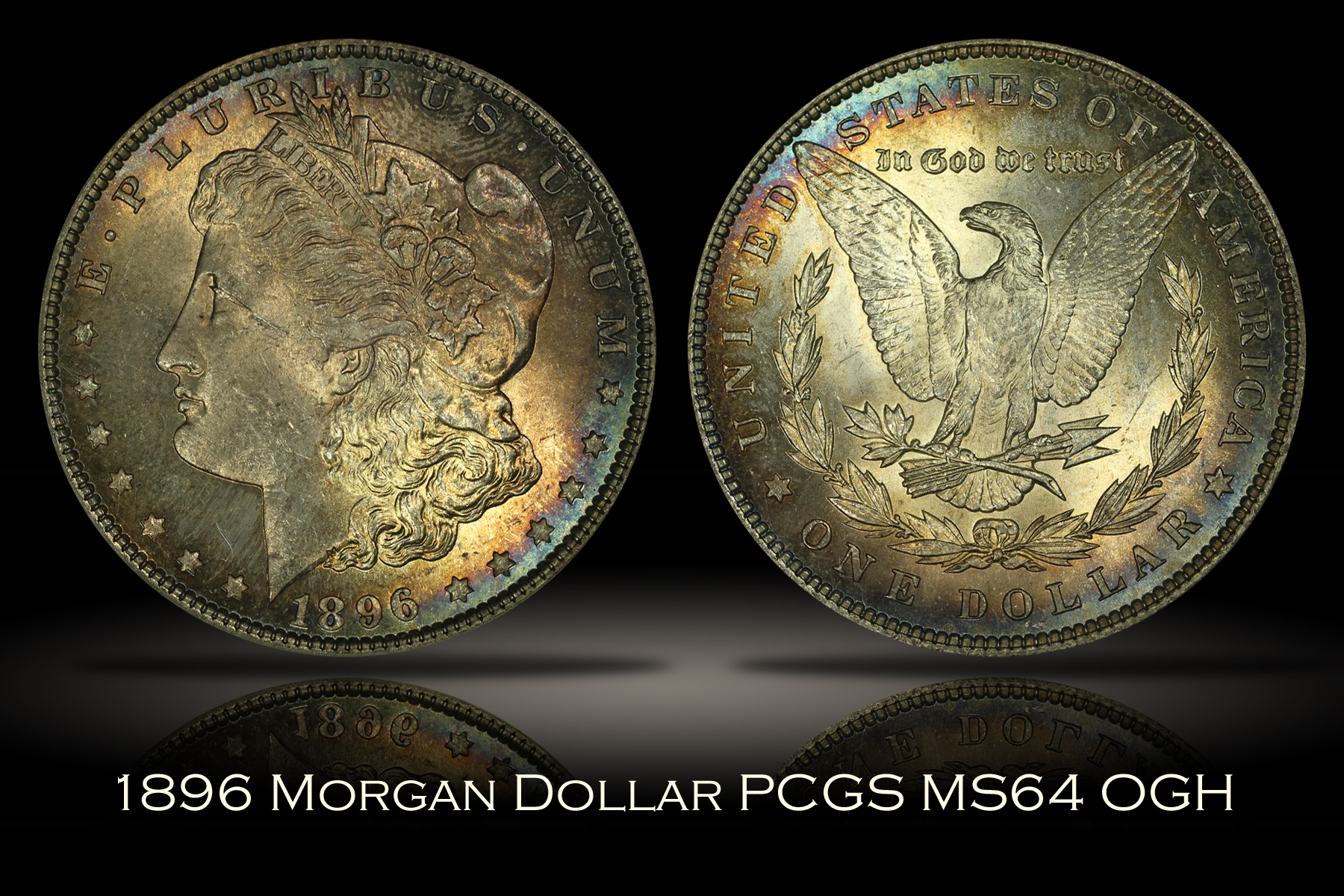 1896 Morgan Dollar PCGS MS64 OGH