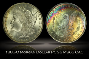 1885-O Morgan Dollar PCGS MS65 CAC