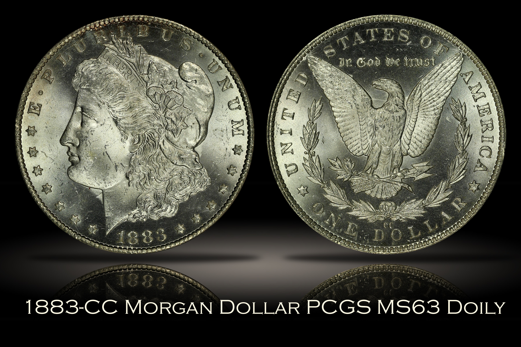 1883-CC Morgan Dollar PCGS MS63 DOILY