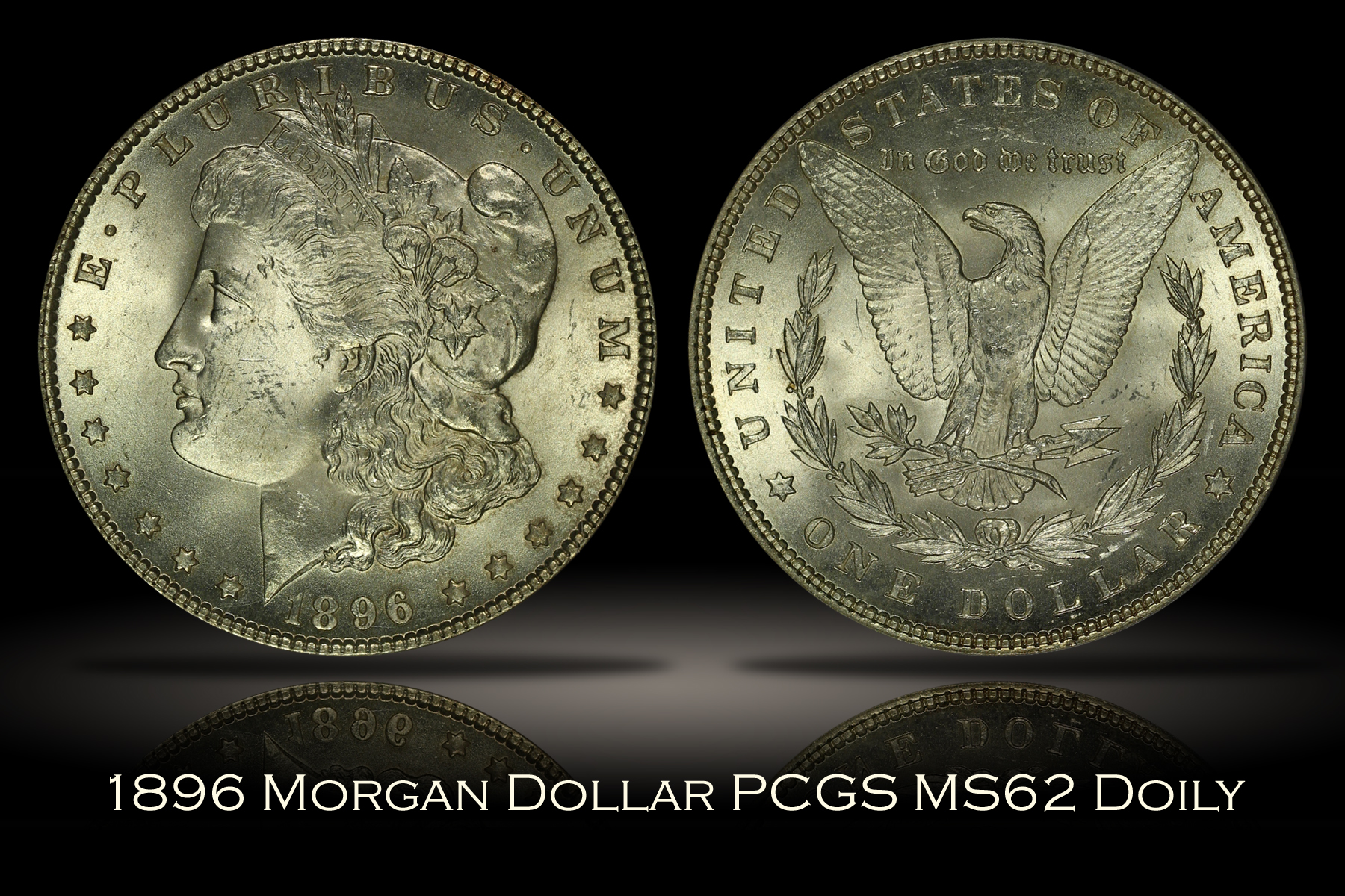 1896 Morgan Dollar PCGS MS62 DOILY
