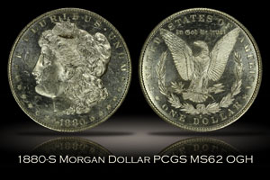 1880-S Morgan Dollar PCGS MS62