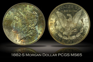 1882-S Morgan Dollar PCGS MS65