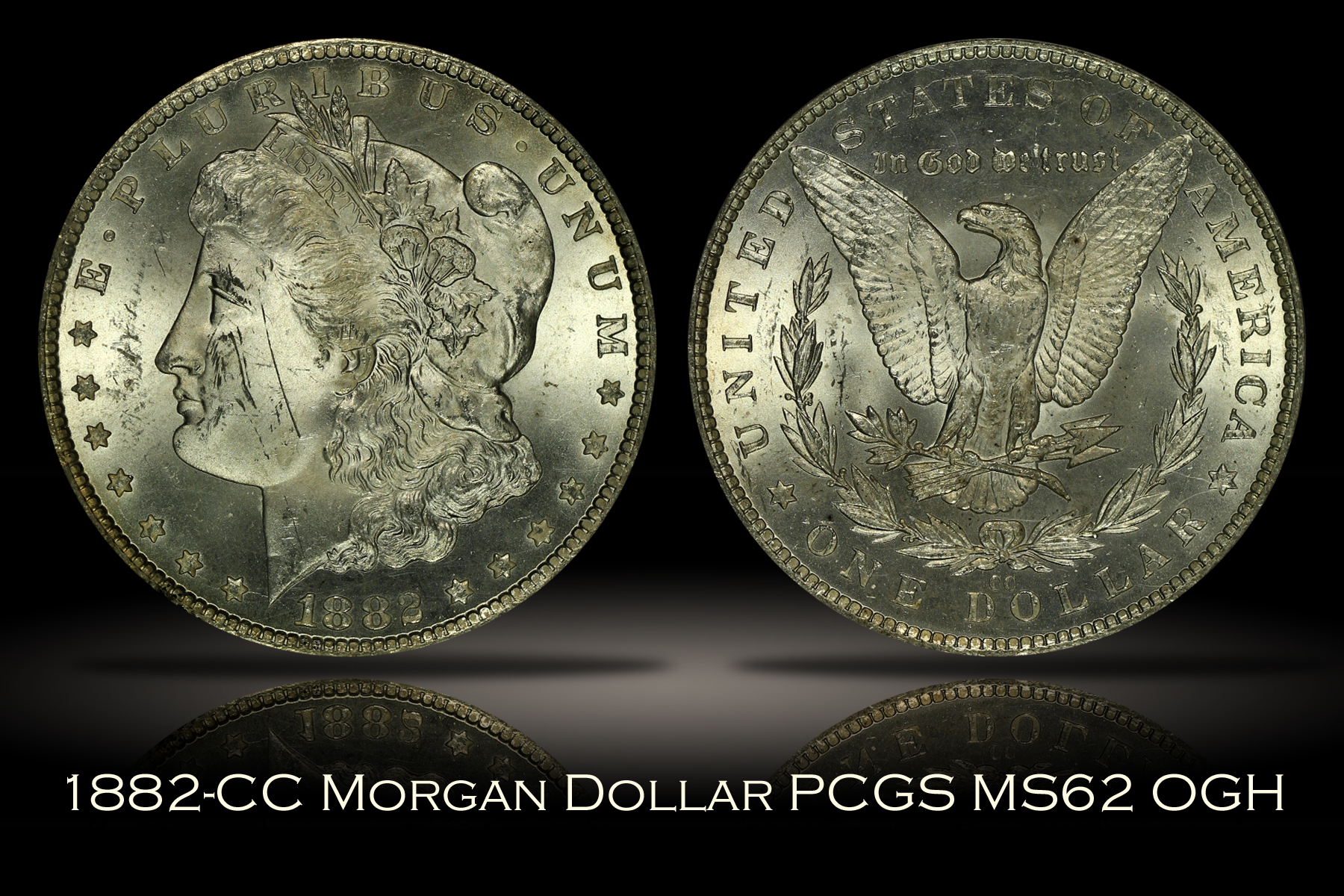 1882-CC Morgan Dollar PCGS MS62 OGH