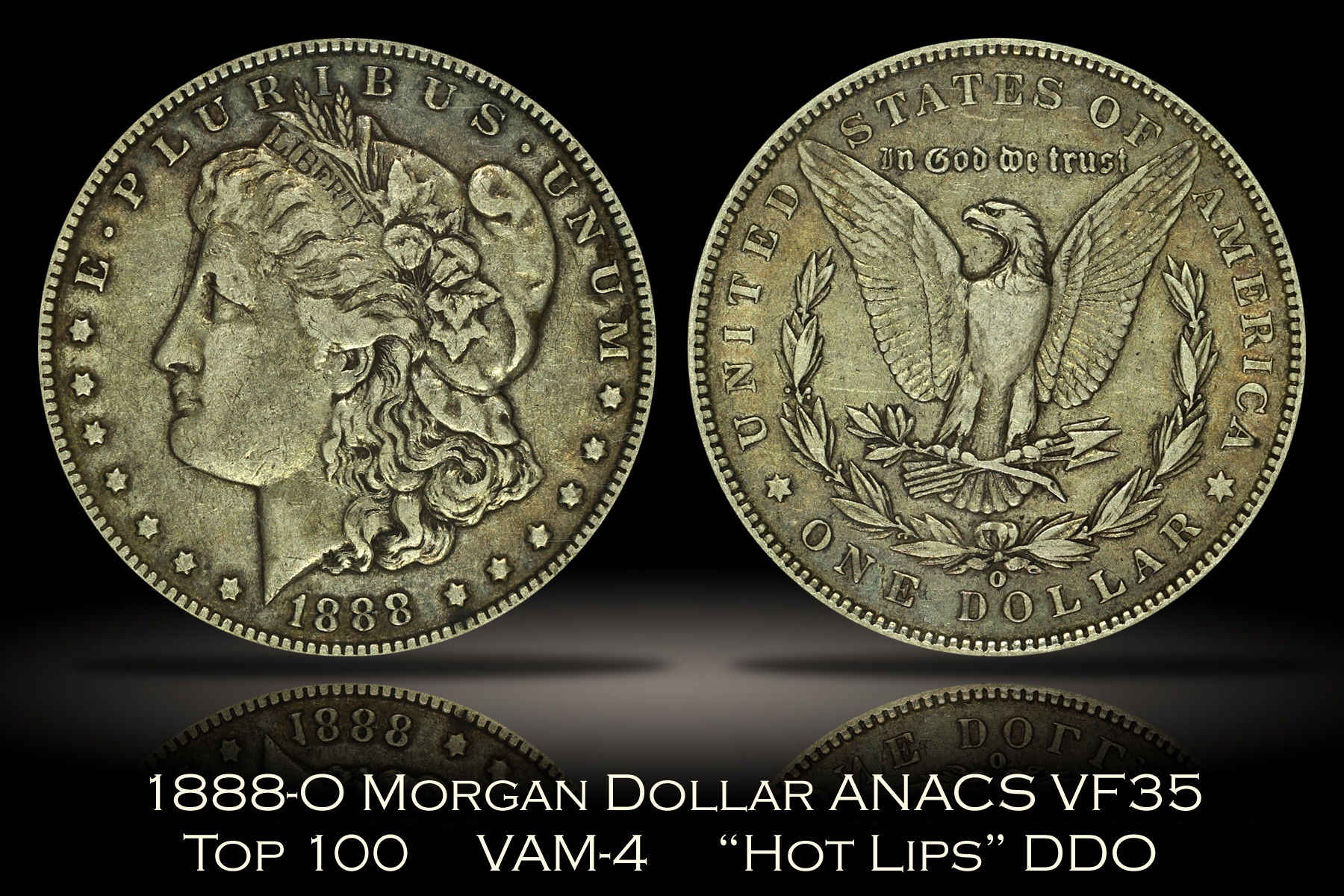 1888-O Morgan Dollar DDO Hot Lips ANACS VF35 VAM-4