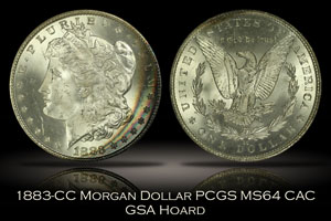 1883-CC Morgan Dollar PCGS MS64 CAC GSA