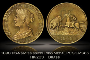1898 Trans-Mississippi Expo Medal HK-283 PCGS MS65