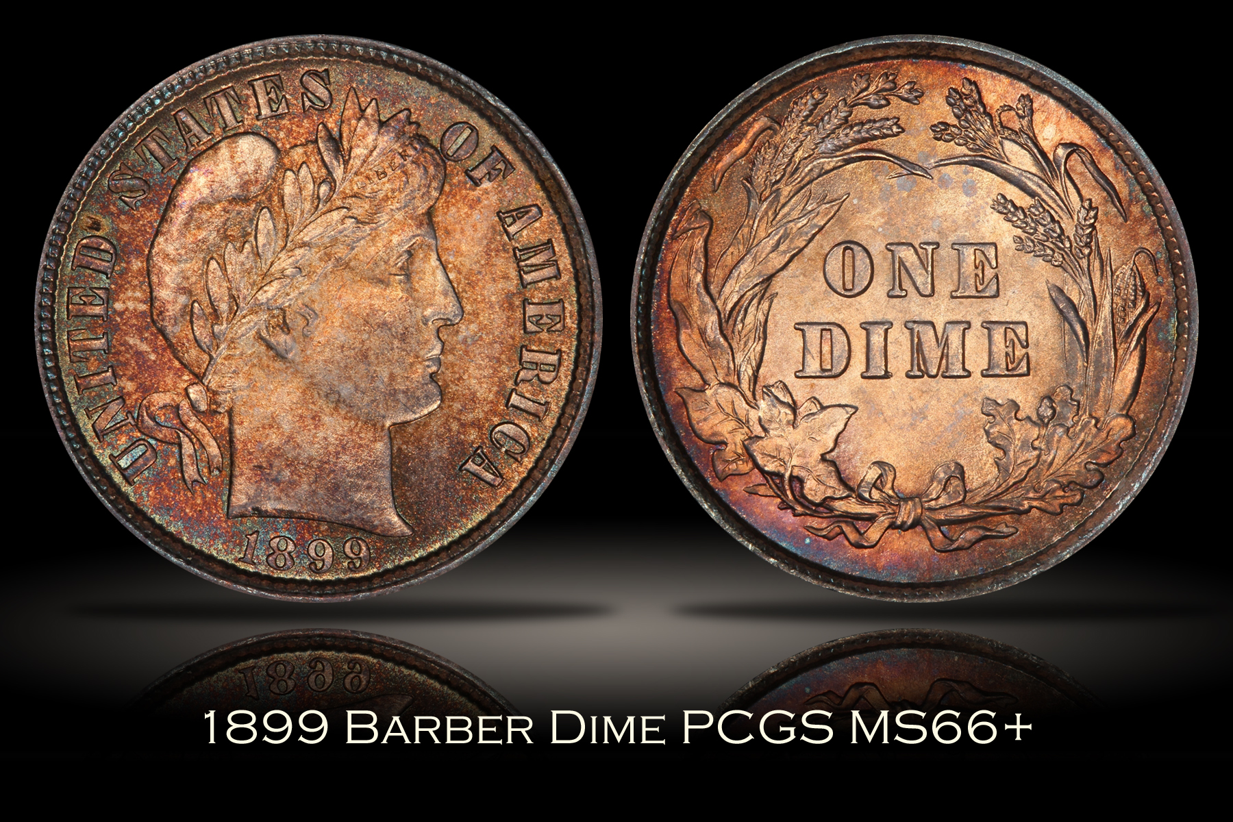 1899 Barber Dime PCGS MS66+