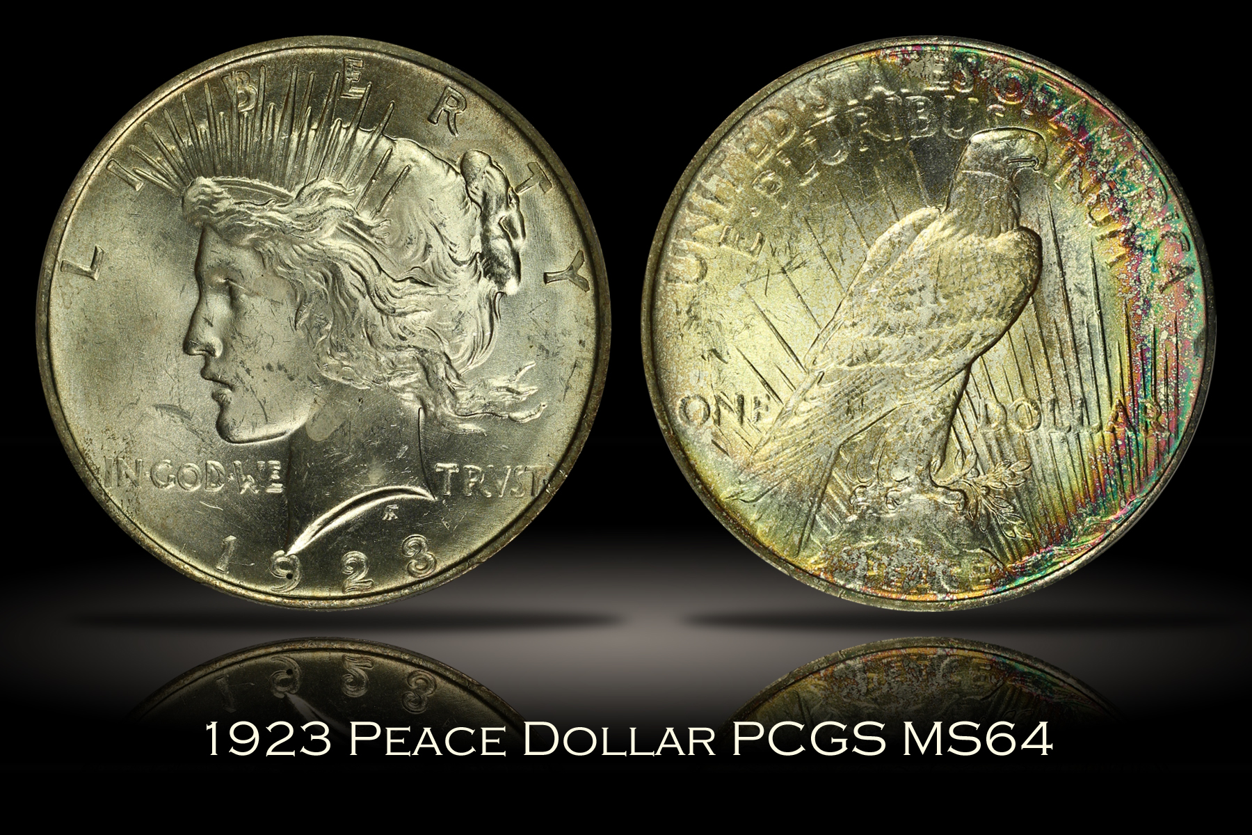 1923 Peace Dollar PCGS MS64