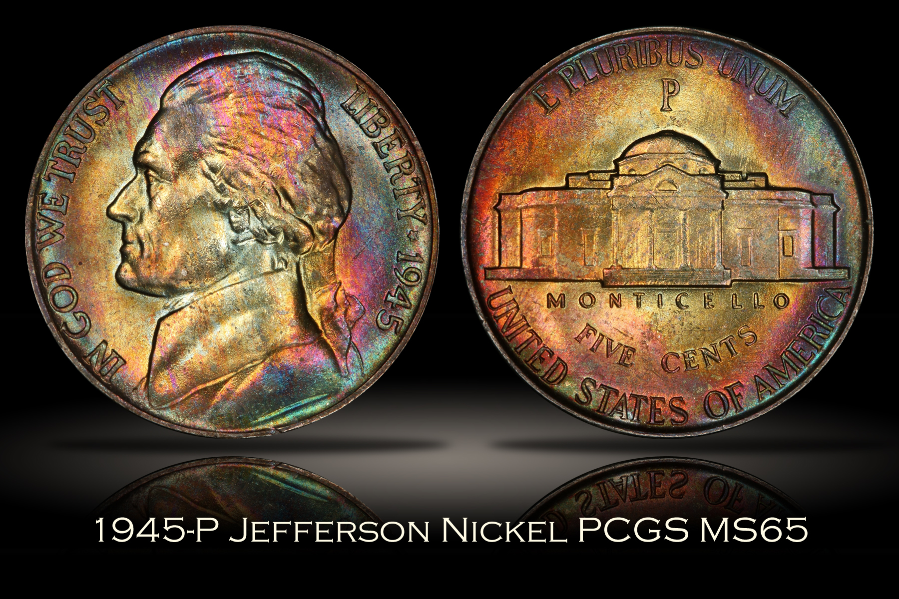1945-P Jefferson War Nickel PCGS MS65