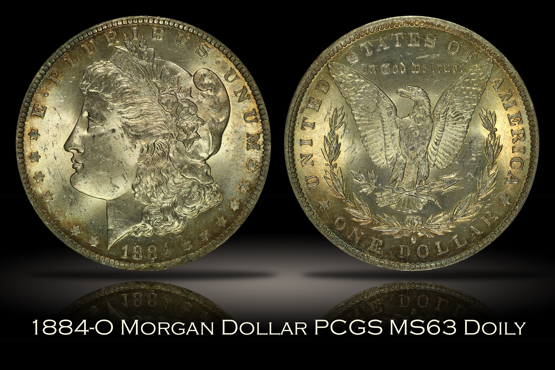 1884-O Morgan Dollar PCGS MS63 DOILY