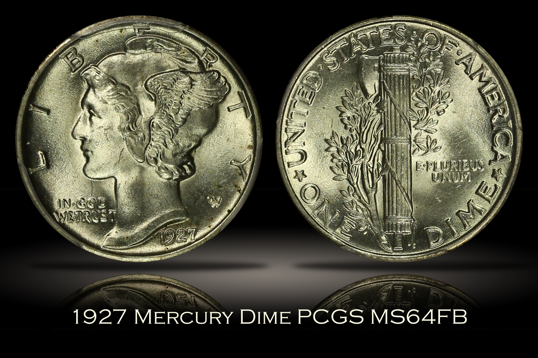 1927 Mercury Dime PCGS MS64FB
