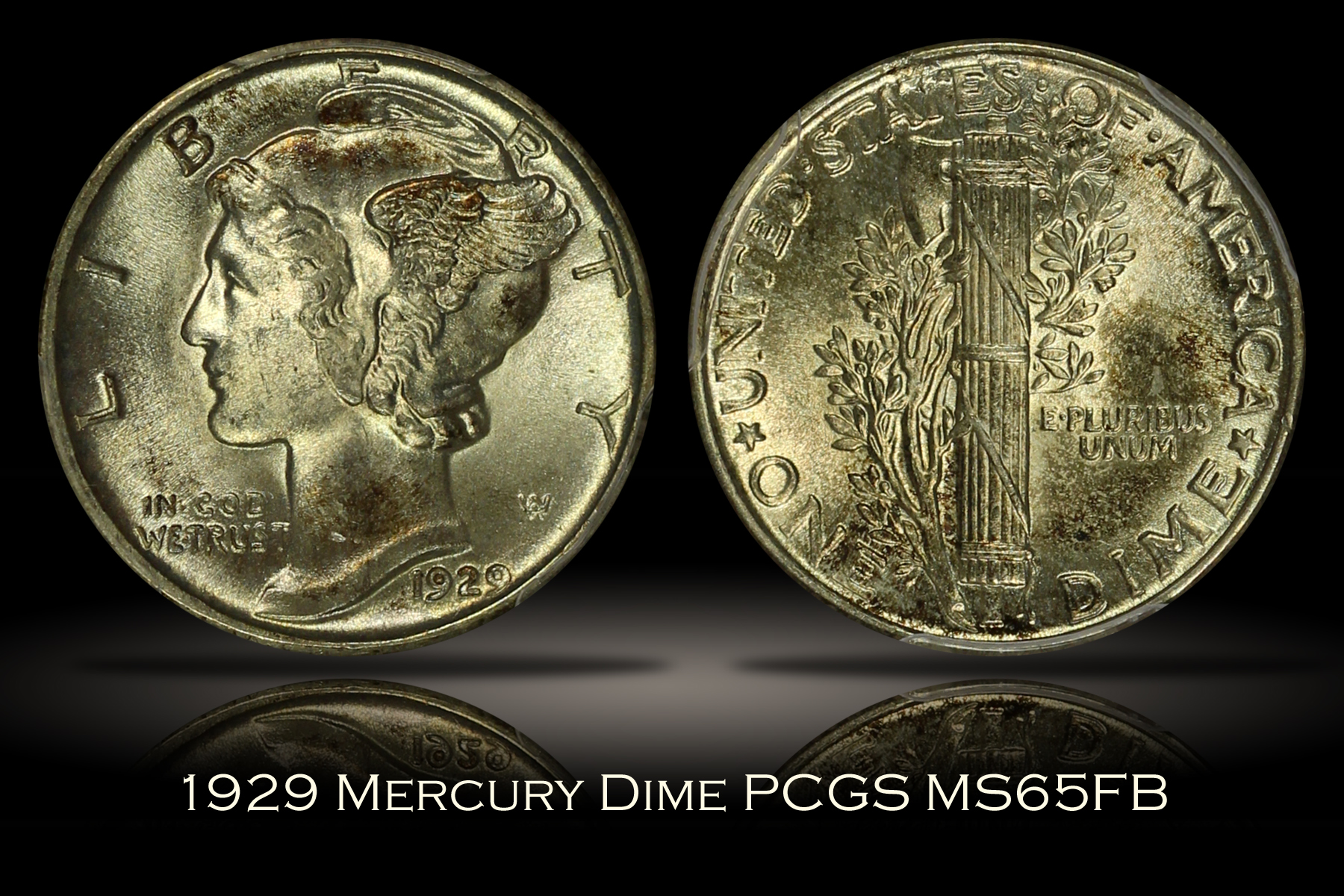 1929 Mercury Dime PCGS MS65FB