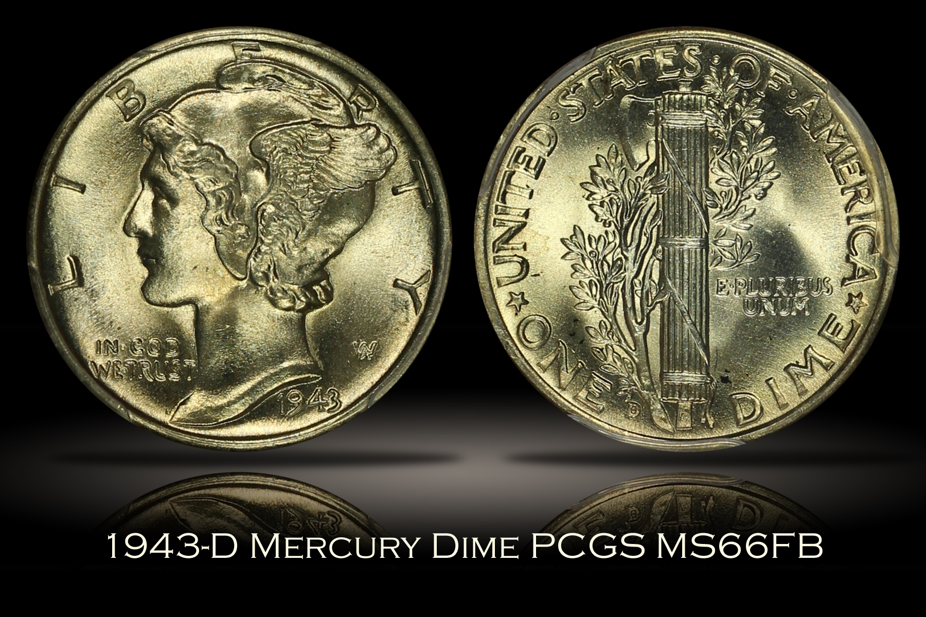 1943-D Mercury Dime PCGS MS66FB