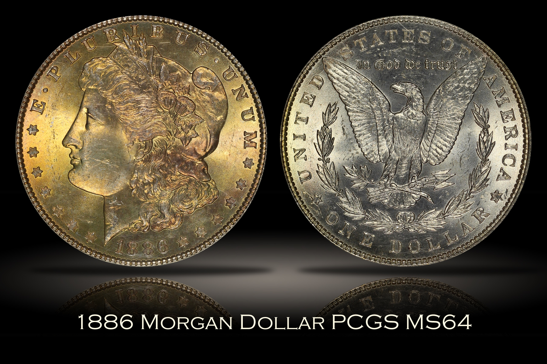 1886 Morgan Dollar PCGS MS64 OGH