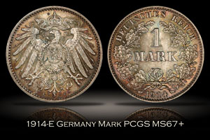 1914-E Germany Mark PCGS MS67+
