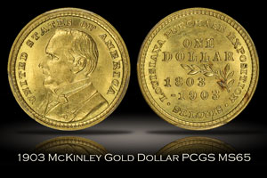 1903 Louisiana Purchase Expo McKinley Commemorative Gold Dollar PCGS MS65