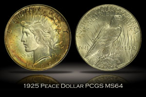 1925 Peace Dollar PCGS MS64