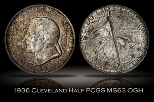 1936 Cleveland Half PCGS MS63 OGH