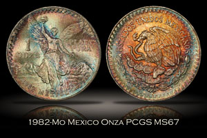 1982-Mo Mexico Onza PCGS MS67