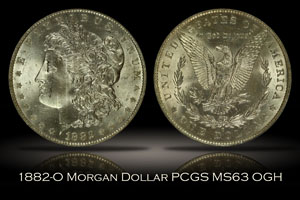 1882-O Morgan Dollar PCGS MS63