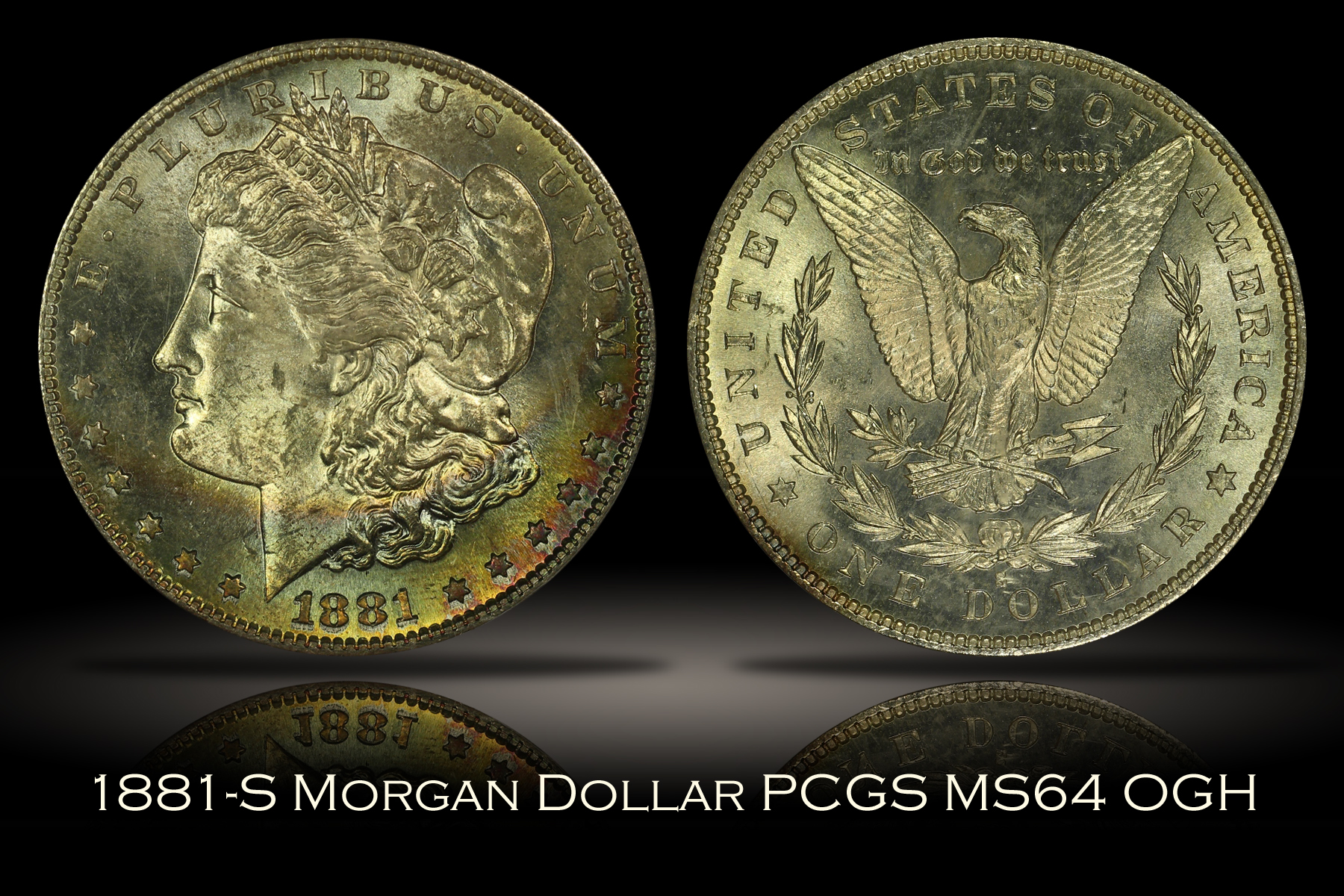 1881-S Morgan Dollar PCGS MS64 OGH