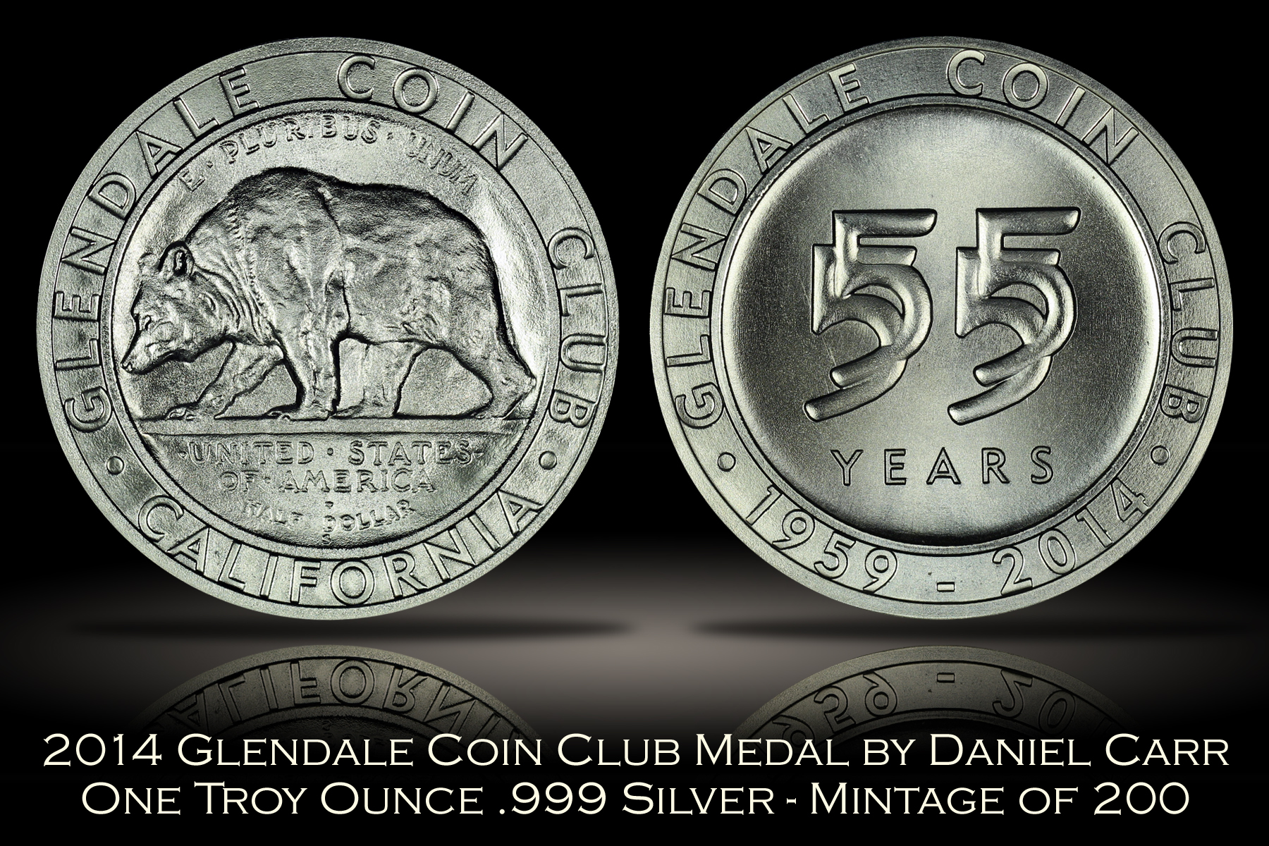 2014 Glendale Coin Club Silver Medal by Daniel Carr