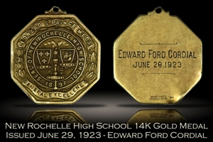1923 New Rochelle High School Gold Medal