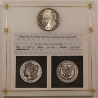 1881-S Morgan Dollar ANACS MS65/65 Photo Certificate in Capital Holder